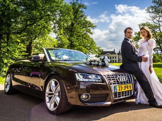 Audi cabriolet huren / trouwen / huwelijk